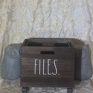 "**SOLD On Mercari** Rae Dunn ""FILES"" File Cart"